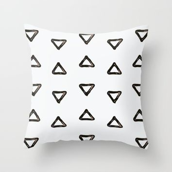 Triangle pattern Throw Pillow by Taoteching / C4Dart