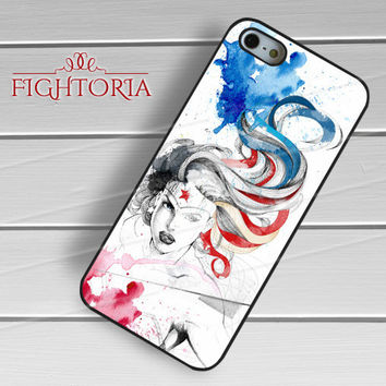 Wonder Woman Watercolor - zFzF for  iPhone 6S case, iPhone 5s case, iPhone 6 case, iPhone 4S, Samsung S6 Edge