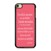 iPod Touch 4 5 6 case, iPhone 6 6s 5s 5c 4s Cases, Samsung Galaxy Case, HTC One case, Sony Xperia case, LG case, Nexus case, iPad case, marilyn monroe quotes Cases