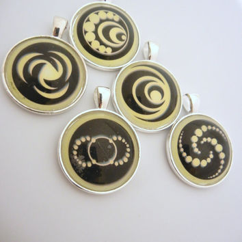 I am number four 4 pendant in yellow ***You choose number***Lorien Legacies