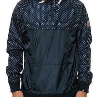 The Half Zip Rain Jacket in Navy