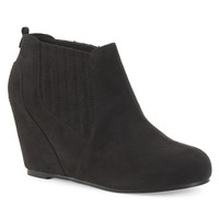 Aeropostale Womens Covered Wedge Booties
