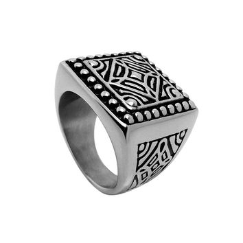 Shiny Gift New Arrival Stylish Strong Character Men Vintage Fashion Jewelry Accessory Ring [6526791363]