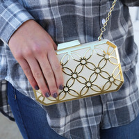 "Big Buddha ""Sweetie"" Box Clutch {Cream}"