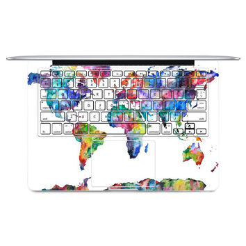 "2016 World Map Laptop Sticker Keyboard Side Full Vinyl Decal Skin For Apple Macbook Air11""13"" Retina/Pro 13""15"" New12"