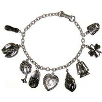 Vintage Charm Bracelet,Unsigned Jonette Jewelry In Burnished Silver: Jewelry: Amazon.com