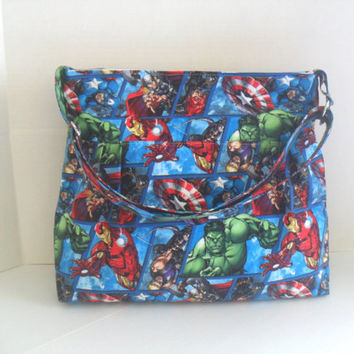 Diaper Bag - Marvel Diaper Bag - Avengers - Messenger Bag - Nappy Bag - Crossbody - Avengers Diaper Bag - Cross Body - Laptop Bag