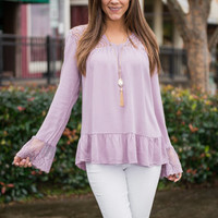 Motivated To Love Blouse, Lilac