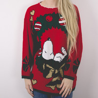Vintage Snoopy Ugly Christmas Sweater