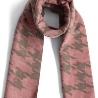Houndstooth My Love Scarf in Rouge Pink
