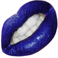 Blue Purple Lipstick Lip Paint- Indigo- In Jar