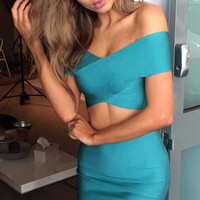 Glenda Two-Piece Bandage Dress