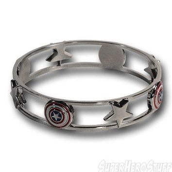 Captain America Shield & Stars Bracelet