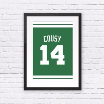 Bob Cousy Number 14 Jersey
