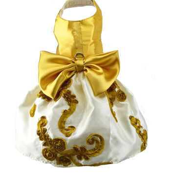 Gold and White Harness Dress