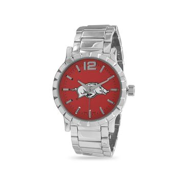 Collegiate Licensed University of Arkansas Men's Fashion Watch