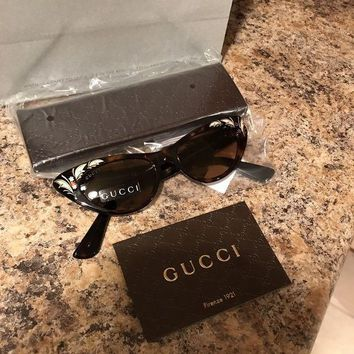 CREYON8C GUCCI Women's Sunglasses GG3807/S CAT EYE 50-17-145 Havana MADE IN ITALY - New!