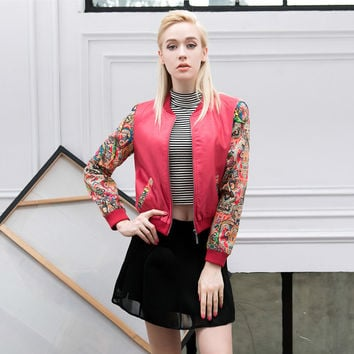 Hot Deal On Sale Sports Innovative Red Embroidery Patchwork PU Leather Jacket Baseball [6308614660]