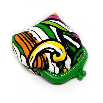Small Coin Purse - Green Plastic Frame