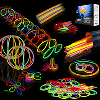 Joyin Toy 200 8'' Glowsticks Glow Stick Bracelets Glow Necklaces Party Favors Pack (Total 456 PCs)