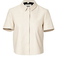 Burberry London - Leather Cropped Shirt