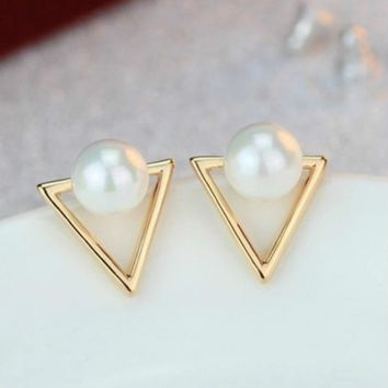 hot sale new fashion jewelry retro triangle earrings personality geometric earrings female elegant bohemian earrings