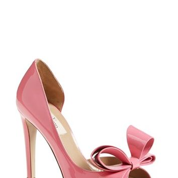 "Women's Valentino 'Couture Bow' d'Orsay Pump, 4"" heel"