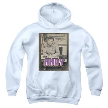 Andy Griffith Show Kids Hoodie Sheriff Andy Quote White Hoody