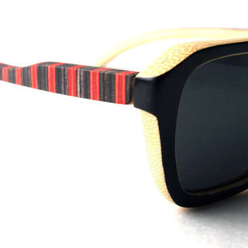 Skateboarding Sunglasses - made in canada from recycled skateboards MADE TO ORDER