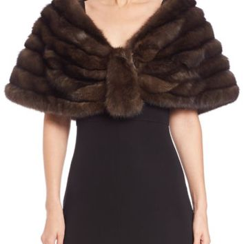 Carmen Marc Valvo - Sable Fur Stole