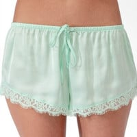 Eyelash Lace Trim PJ Shorts