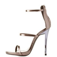 Metallic Triple Strap Dress Sandals
