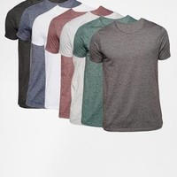 ASOS | ASOS Slim Fit T-Shirt With Crew Neck 7 Pack Save 24% at ASOS