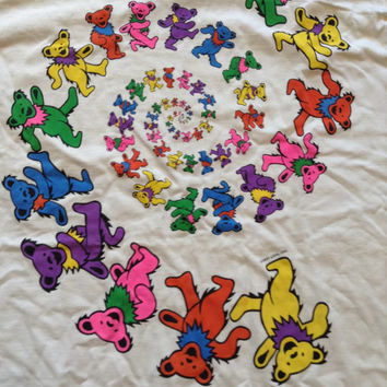 Grateful Dead Vintage 1997 Dancing Bears Spiral Shirt