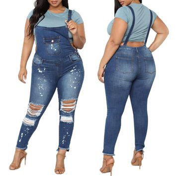 Casual Denim Ripped Jeans