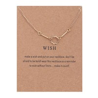 Hollowed Geometry Multilateral Flower Shape Card Alloy Clavicle Pendant Necklace   171211