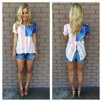 American Arrow Slit Back Top