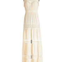 ModCloth Boho Long Spaghetti Straps Maxi Sunshine of My Whirled Dress