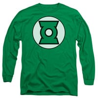 JLA/GREEN LANTERN LOGO - L/S ADULT 18/1 - KELLY GREEN -