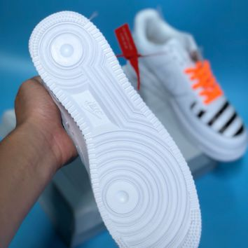 KUYOU N427 Nike Air Force 1 x Off White Low Casual Skate Shoes White