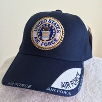 US Air Force Seal and Shadow on Blue Ball cap