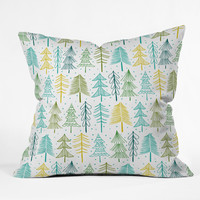 Heather Dutton Oh Christmas Tree Frost Outdoor Throw Pillow