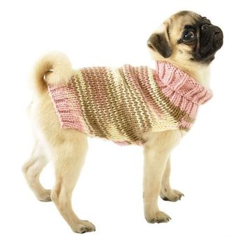 Knitted Dog Sweater Sizes XXS to Large in Pink,