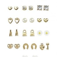 16 Pack Gold Stud Earrings | Girls Earrings Jewelry | Shop Justice