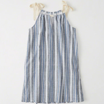 Womens Tie-Shoulder Dress | Womens Dresses & Rompers | Abercrombie.com