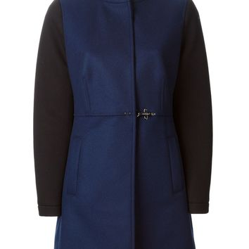 Fay contrasting sleeves coat