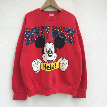Vintage Mickey Mouse and Minnie Mouse Sweatshirt /Mickey Mouse T Shirt /Mickey Mouse Sweatshirt / Walt Disney / Animated / Cartoon