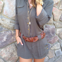 Long Sleeve Skort Romper