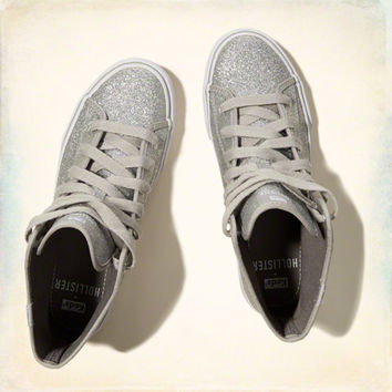 Hollister + Keds Glitter Hi Top Sneakers