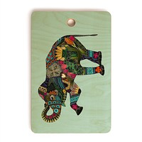Sharon Turner asian elephant Cutting Board Rectangle